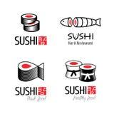 Logos de vecteur de sushi réglés Illustration de Vecteur