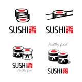 Logos de vecteur de sushi réglés Illustration Libre de Droits