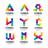 Logos de vecteur des modules abstraits Image libre de droits