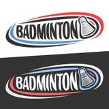 Logos de vecteur pour le sport de badminton Photos libres de droits