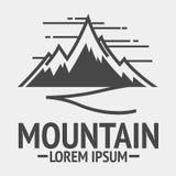 Logos de vintage d'exploration de montagne, emblème illustration libre de droits