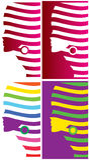 Logos de visage de mode Photo stock