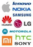 Logos dei produttori di Smartphone Immagini Stock