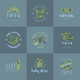 Logos del bambino messo Fotografia Stock Libera da Diritti