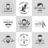Logos del barbiere messo Fotografia Stock