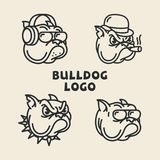 Logos del bulldog illustrazione vettoriale