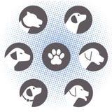 Logos del cane Fotografia Stock
