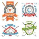 Logos del club di golf Fotografie Stock Libere da Diritti