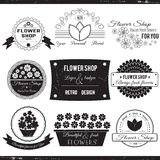 Logos del negozio di fiore Immagini Stock Libere da Diritti