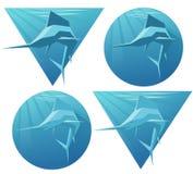 Logos del pesce spada Fotografie Stock Libere da Diritti