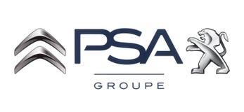 Logos dell'alleanza delle case automobilistiche: Citroen e Peugeot Allianc illustrazione di stock