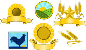 Logos dell'azienda agricola Immagini Stock Libere da Diritti