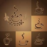 Logos della caffetteria Fotografia Stock Libera da Diritti
