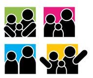 Logos della famiglia Immagini Stock