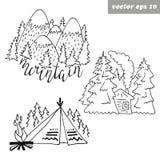 Logos della foresta illustrazione di stock