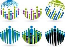 Logos della gente Fotografia Stock