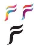 Logos della lettera di F Immagine Stock