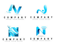 Logos della lettera N Immagini Stock Libere da Diritti