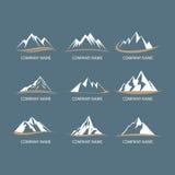 Logos della montagna Fotografie Stock Libere da Diritti