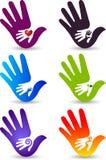 Logos della raccolta della mano Immagine Stock Libera da Diritti