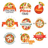 Logos della raccolta per il menu dei ristoranti royalty illustrazione gratis