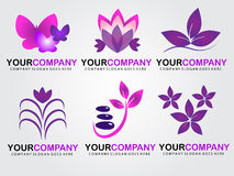 Logos della stazione termale Fotografia Stock Libera da Diritti