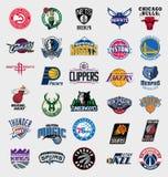 Logos delle squadre NBA Fotografia Stock Libera da Diritti