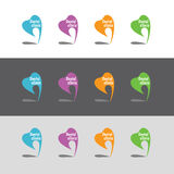 Logos for dental clinic. Color set Royalty Free Stock Photo