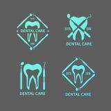 Logos dentario messo Fotografie Stock Libere da Diritti
