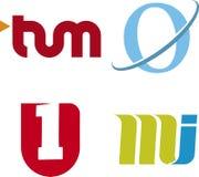 Logos des textes (vecteur) Photographie stock libre de droits