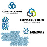 Logos and design elements for business, building. Pattern Royalty Free Illustration