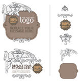 Logos and design elements for certificate vector Vol-01 Royalty Free Stock Image