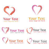 Logos Design Set for love or heart royalty free stock image