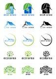 Logos di area di Eco Immagini Stock