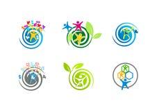 Logos di autismo Immagini Stock