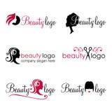 Logos di bellezza e dei capelli Fotografie Stock