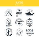 Logos di caccia royalty illustrazione gratis