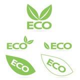 Logos di Eco Fotografia Stock Libera da Diritti