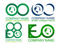 Logos di Eco Fotografie Stock Libere da Diritti