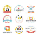 Logos di fotografia Fotografia Stock
