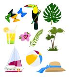 Logos divertente di estate illustrazione di stock
