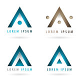 Logos dynamiques de société Image stock