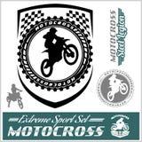 Logos e bages della pista di Moto Immagine Stock Libera da Diritti