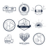 Logos e segni di musica Fotografie Stock
