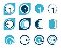 Logos ed elementi della porta di entrata per progettazione Immagine Stock