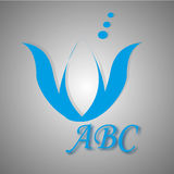 Logos ed icone blu Fotografia Stock Libera da Diritti