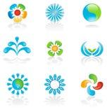 Logos environnementaux Images stock