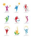Logos et icônes d'harmonie illustration libre de droits