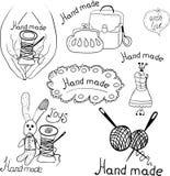 Logos für Produkte stock abbildung