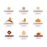 Logo des Baus und der Immobilien Stockfoto